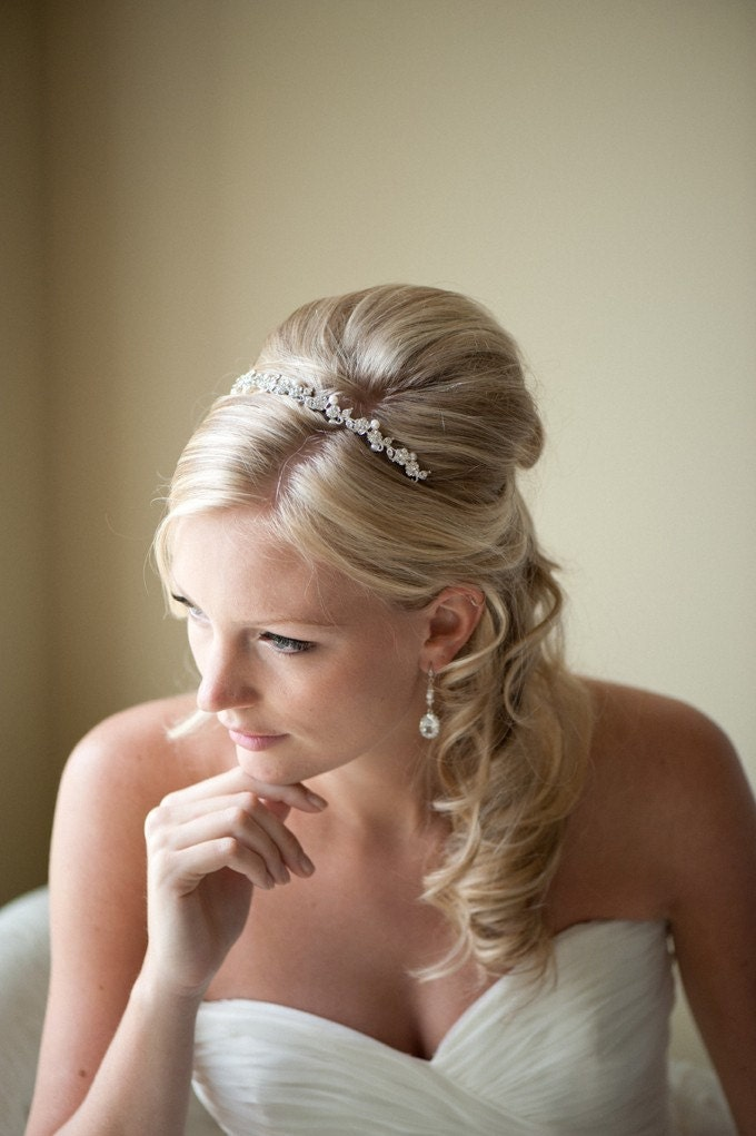 Bridal Headband Tiara Freshwater Pearl and by PowderBlueBijoux - photo #21