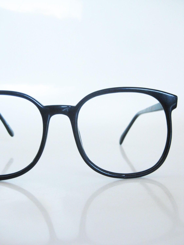 1980s Round Black Glasses Eyeglasses Womens by OliverandAlexa