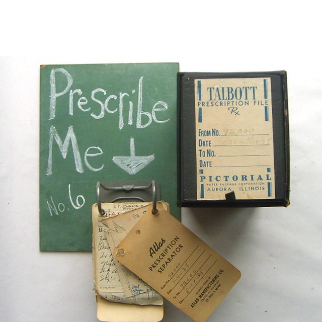 Pharmacy Box Full of Handwritten Medicine Prescriptions No. 6