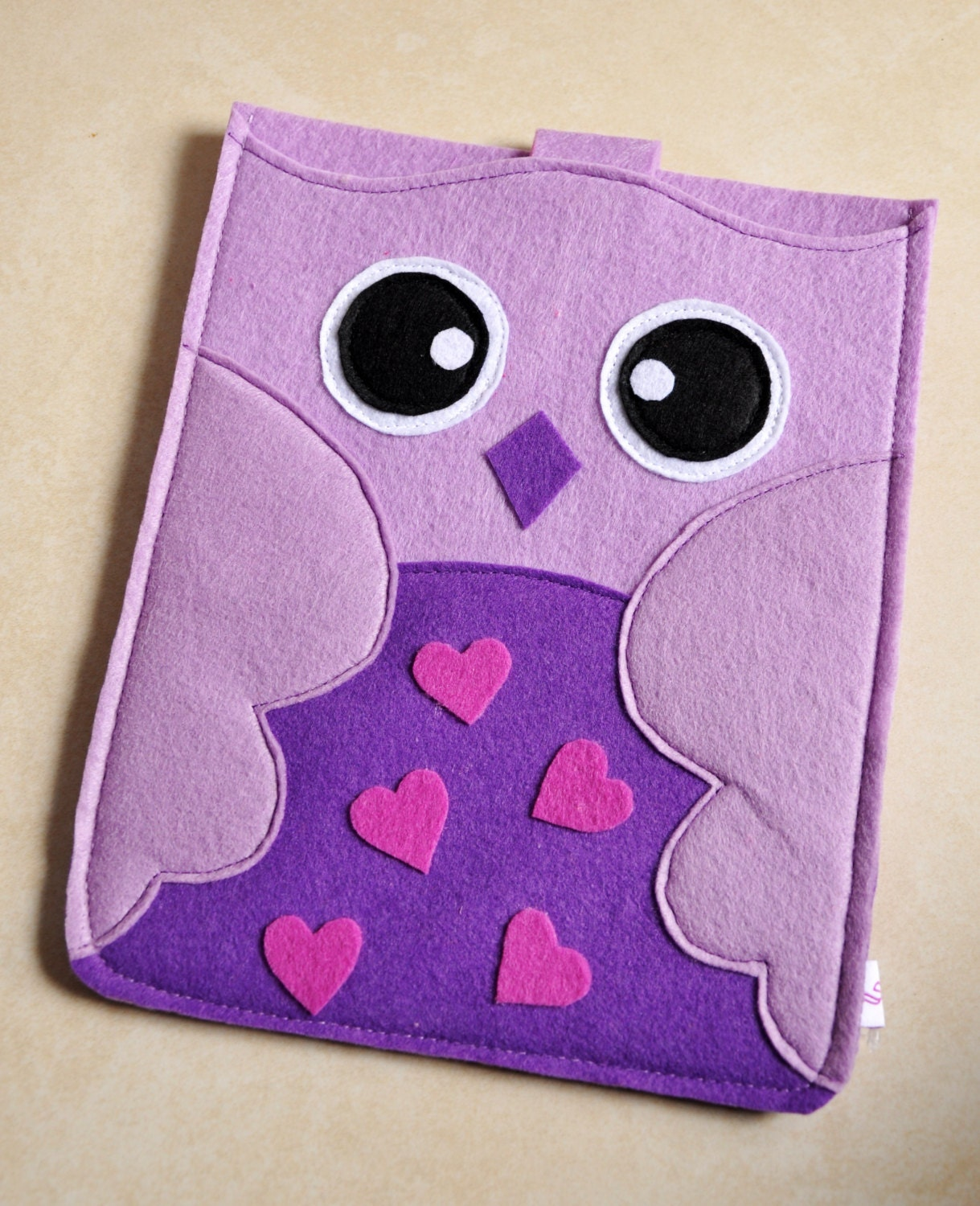 Sale Purple Owl -100%Felt iPad case/ iPad purse/ iPad bag/ iPad cover/ iPad Sleeve/handmade ipad case/iPad mini case - SheetaDesign