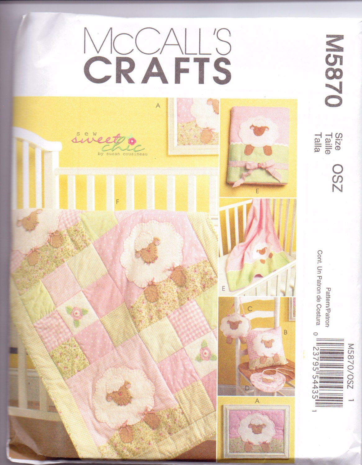 Baby Quilt Patterns Mccalls : New McCalls Quilt pattern Baby Quilt Lamb by purrfectstitchers