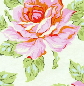 Hello Roses in Cream, Heather Bailey Nicey Jane Fabric, 1 Yard