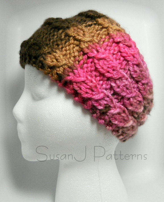 Knitting Pattern Cable Knit Headband : Cable Headband Knitting Pattern PDF by BassWoodStitchery on Etsy