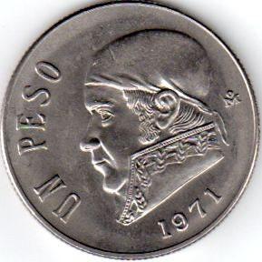 1971 Un Peso, Mexico - vintage coin