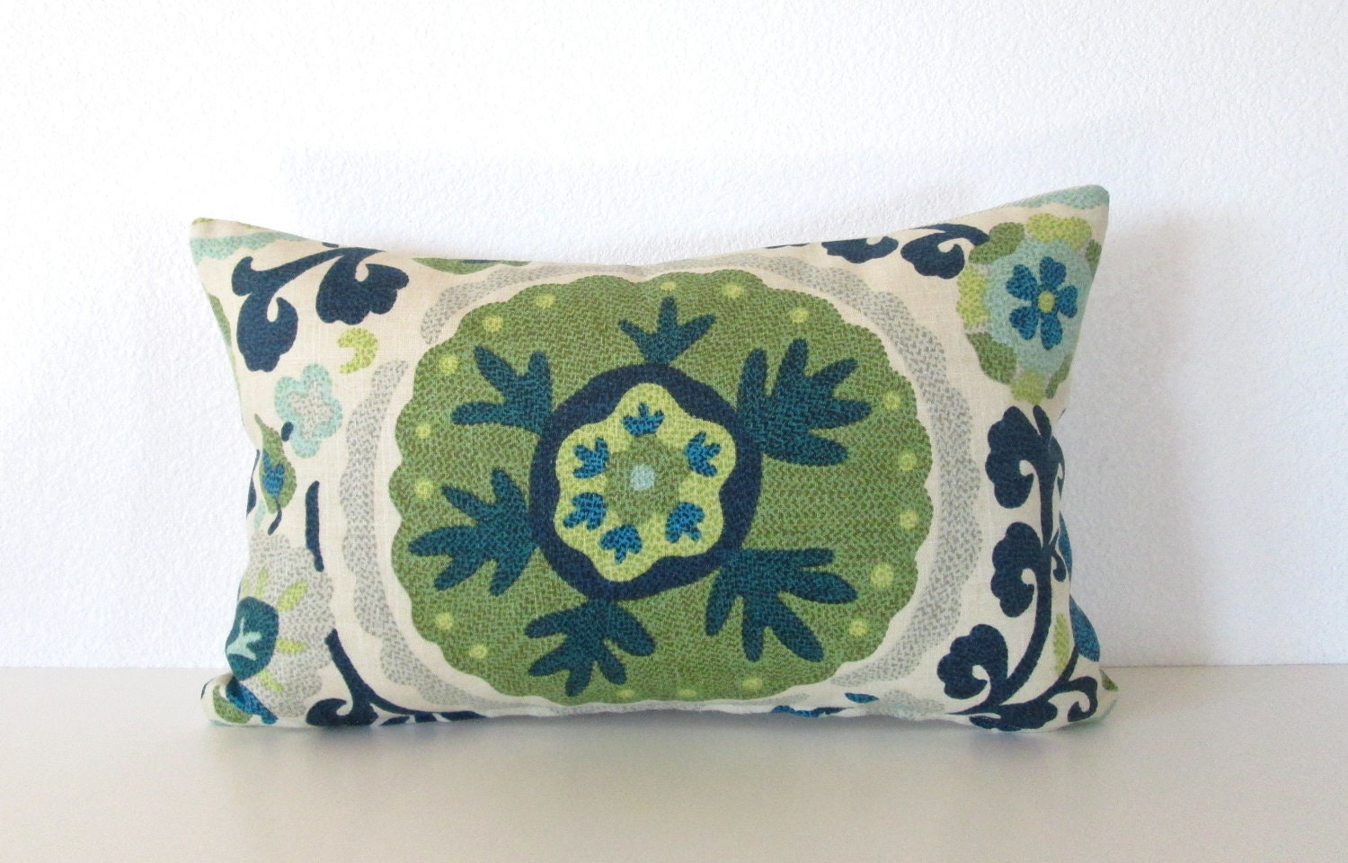 Decorative pillow cover 12x18 Aqua Teal by chicdecorpillows
