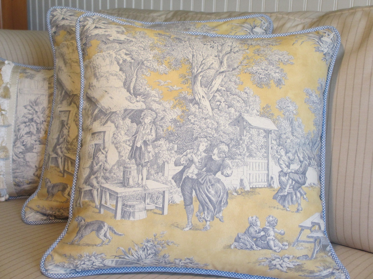 Toile French Country Pillow Cover Classic by  : ilfullxfull381304201opfg from www.etsy.com size 1500 x 1125 jpeg 434kB
