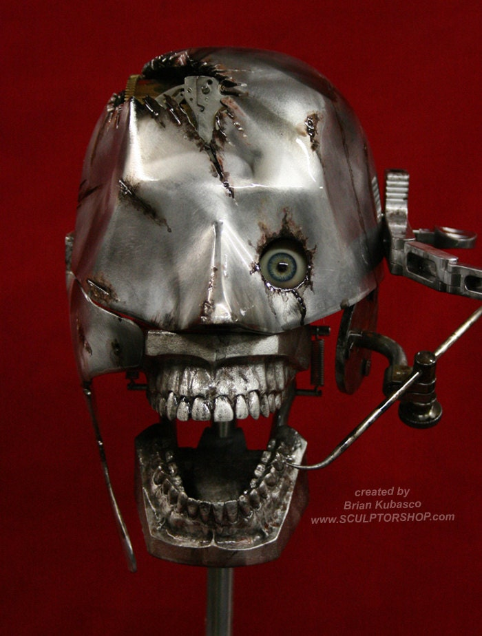 Steampunk Skull  Industrial Art Dental Medical Manikin Model Phantom - briankubasco