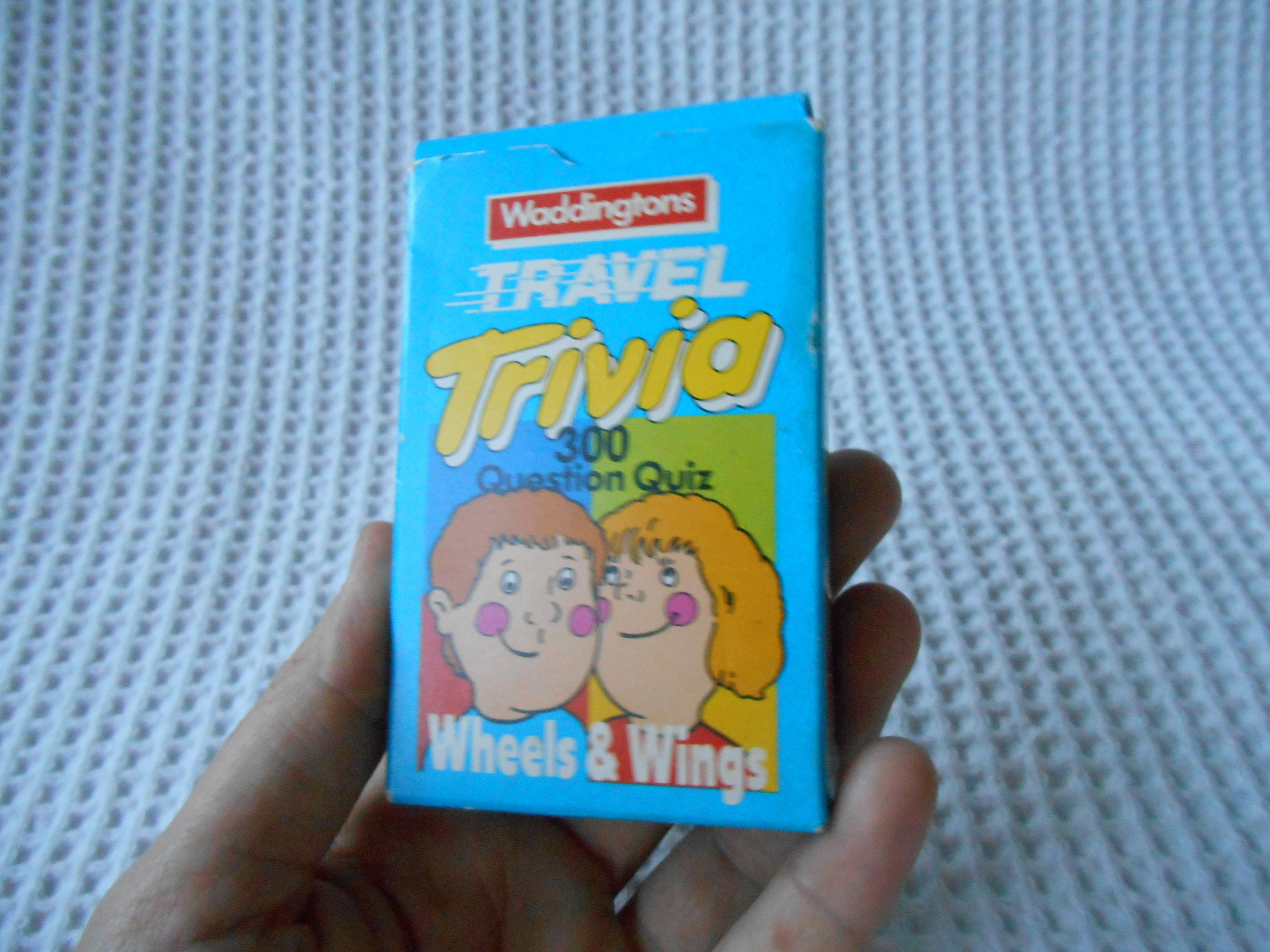 Vintage Waddingtons Travel Trivia Wheels and Wings Card Game