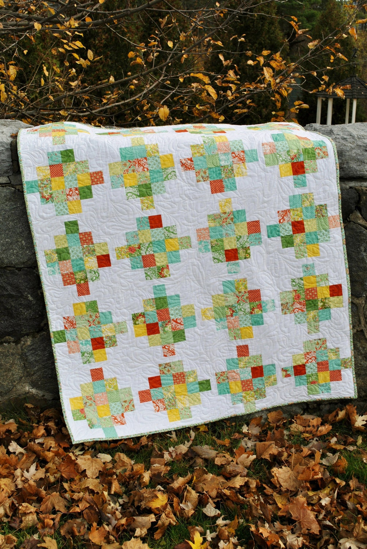 Quilt Pattern For 9 Fat Quarters : QUILT PATTERN Jelly Roll or Fat Quarters, strip quilt pattern, Easy 5 sizes eBay