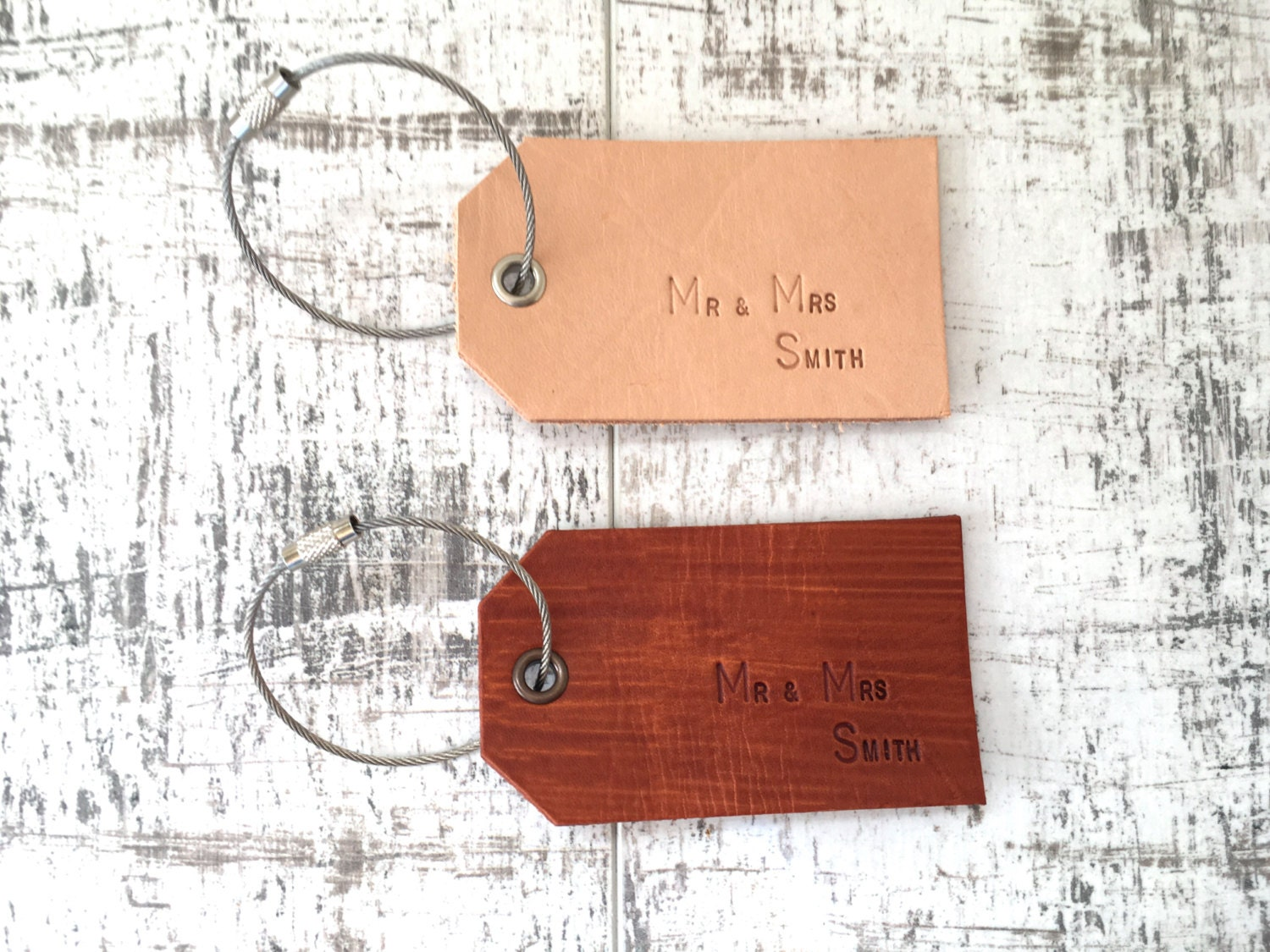 Mr and mrs gift set of 2 personalised luggage labels leather luggage tag custom tags case labels wedding 3rd anniversary present