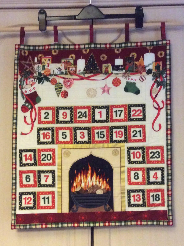 reusable advent calendar fabric advent calendar quilted Fire place calendar childrens advent calendar xmas count down xmas decor