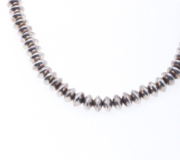 navajo pearls necklace sterling made by