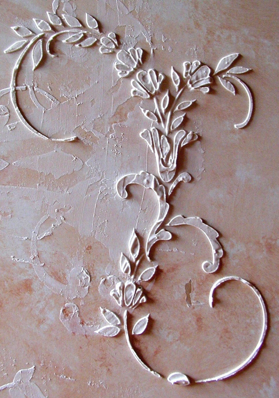 Raised Plaster Dresden Stencil Craft Stencil by