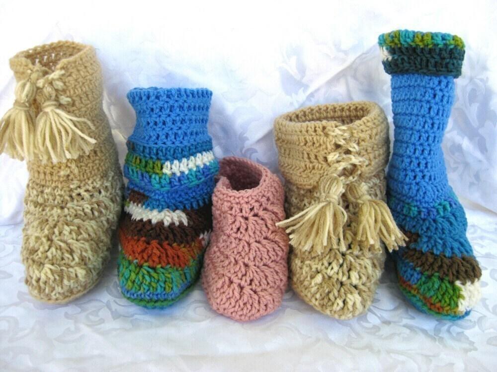 Childrens Crochet Slipper Free Patterns - Online Crochet