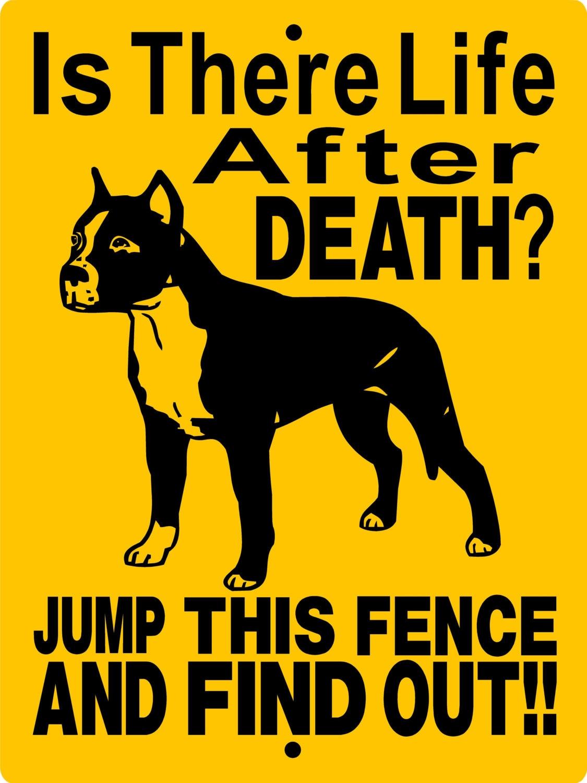 Beware of dog sign pitbull
