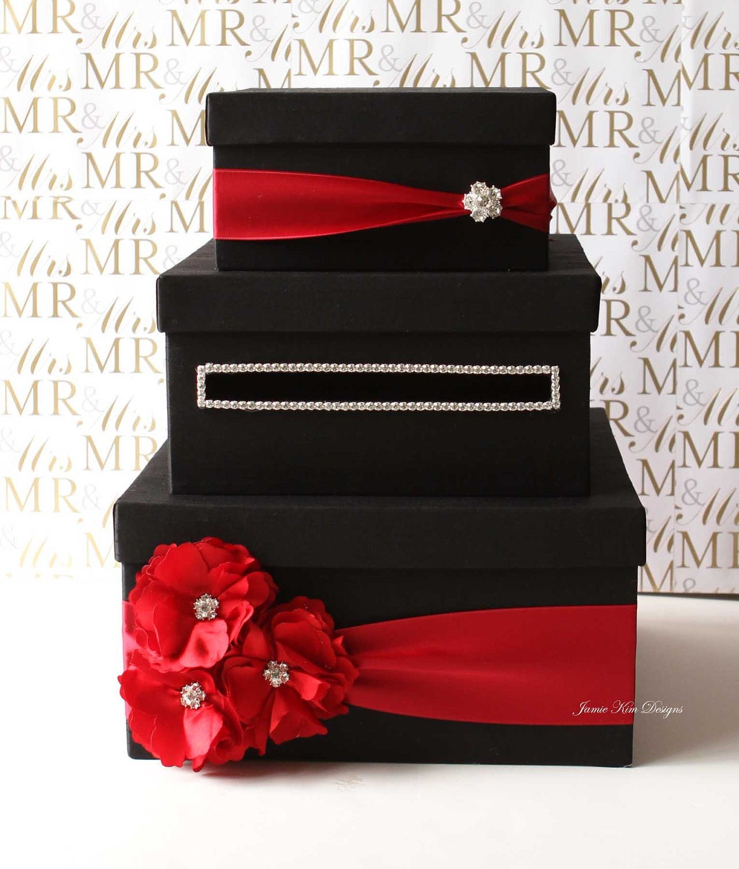 How To Make Gift Card Box For Wedding : Wedding Card Box Money Box Gift Card Holder by jamiekimdesigns