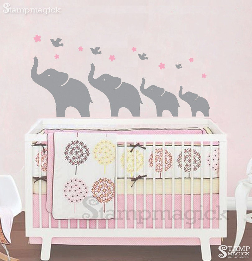 Unavailable listing on etsy for Elephant mural nursery