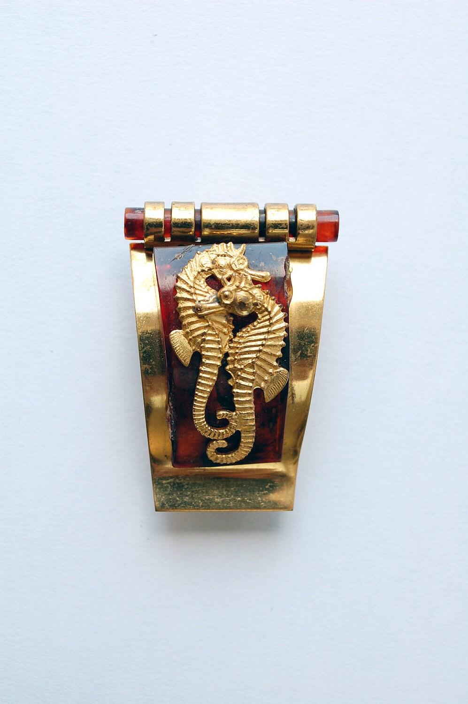 vintage seahorse dress clip