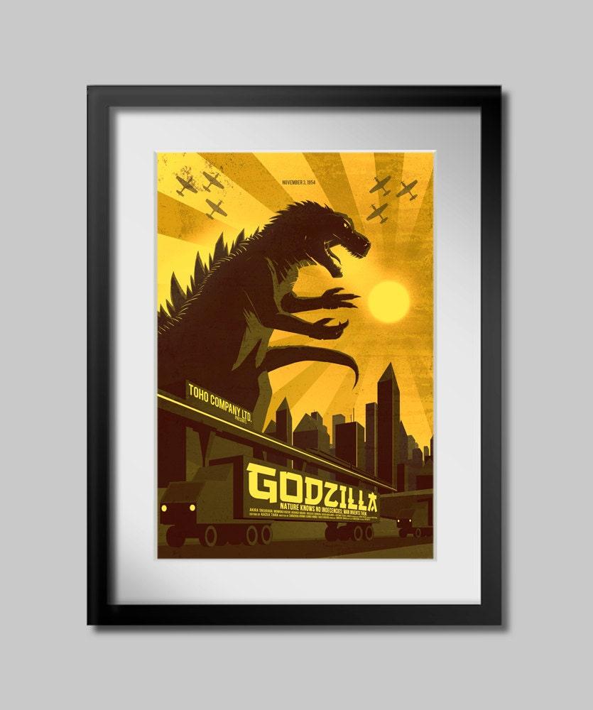 Godzilla - Poster - (Select a Size) - RonGuyatt