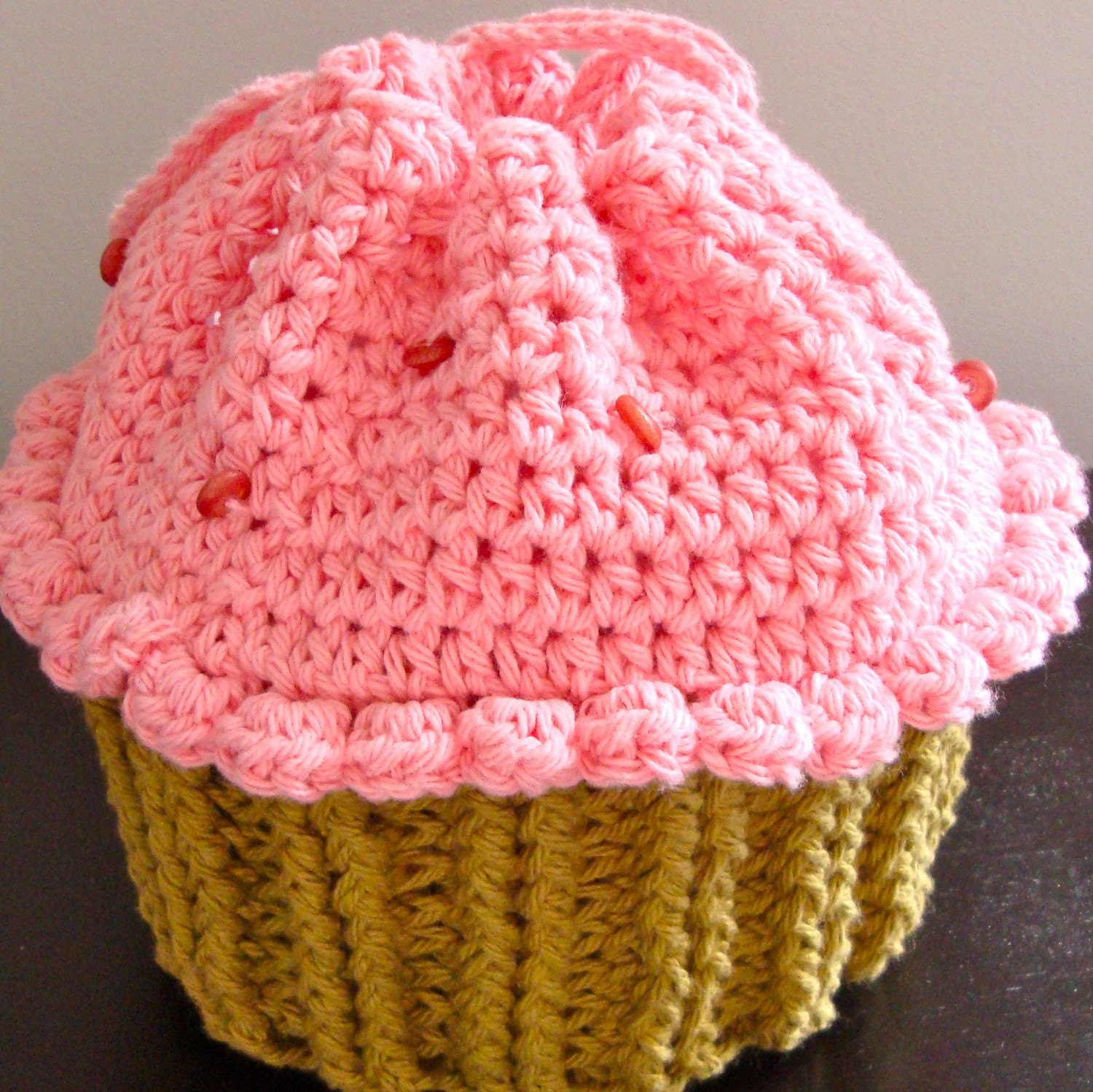 Crochet Child s Bag Pattern : CROCHET CUPCAKE PURSE-No. 32 by DesignsbyLilly by ...
