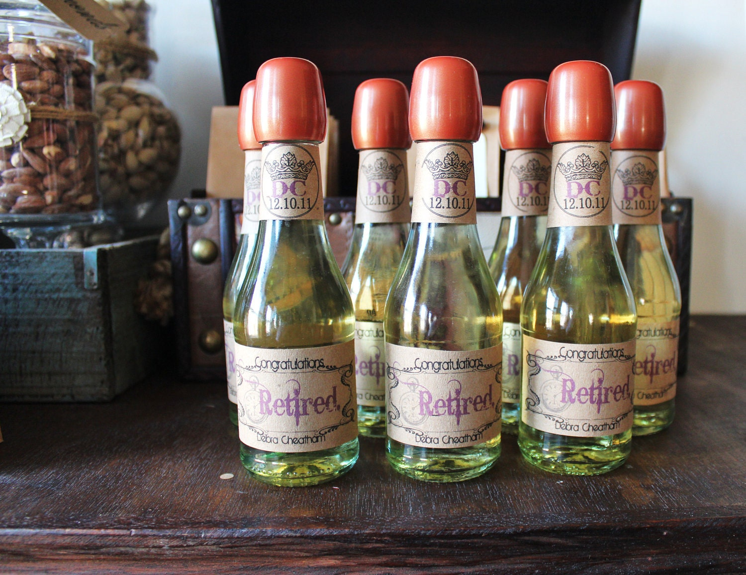 Items similar to mini vintage travel wine bottle labels for Etsy mini wine bottle labels