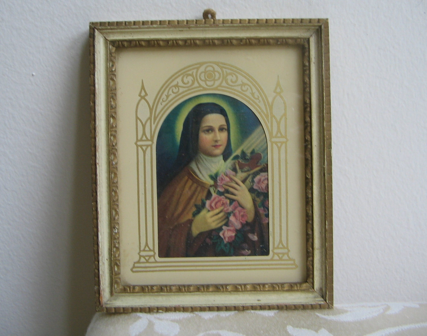 Vintage St Therese of Lisieux Little Flower by vintagenowandthen