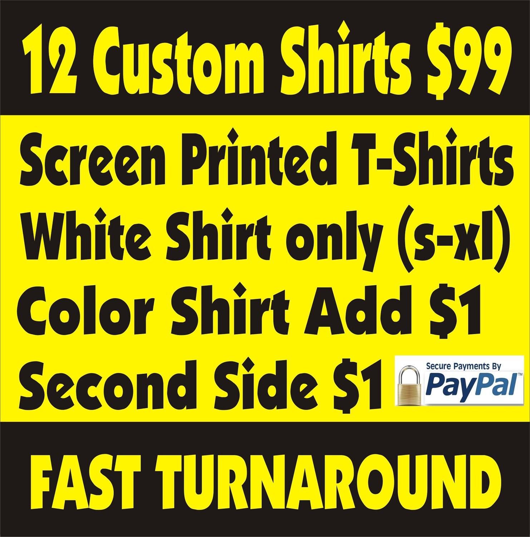 Custom Screen Printed T Shirtsml In Kubadakythub Source