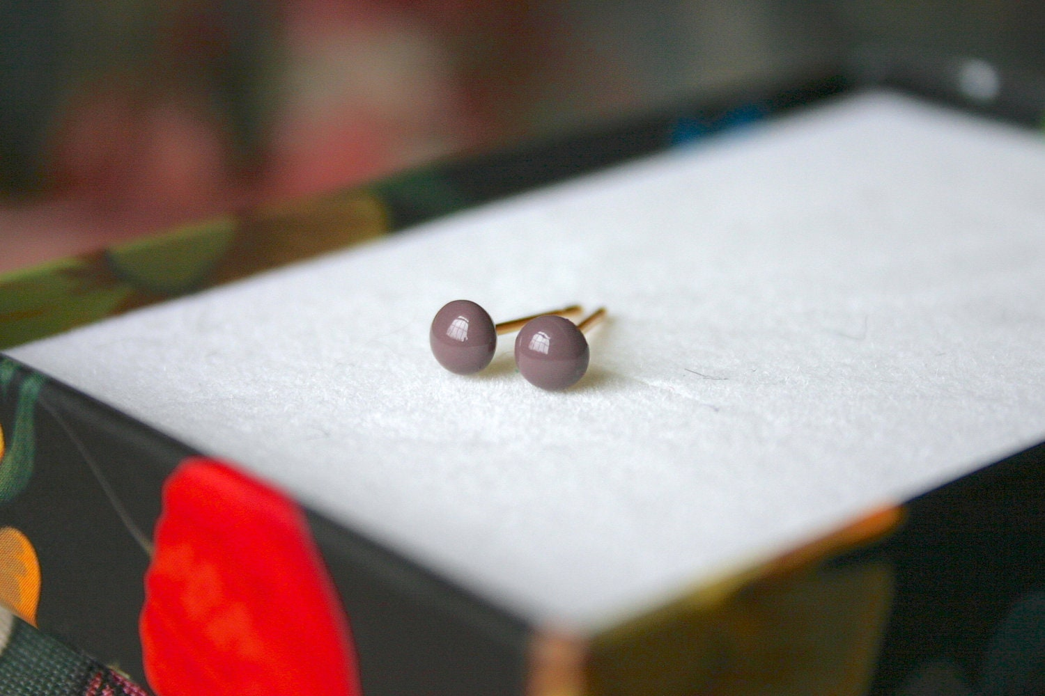 Tiny Studs - 1.5mm-4.5mm, Seven Sizes: Taupe - eleanorjoseph