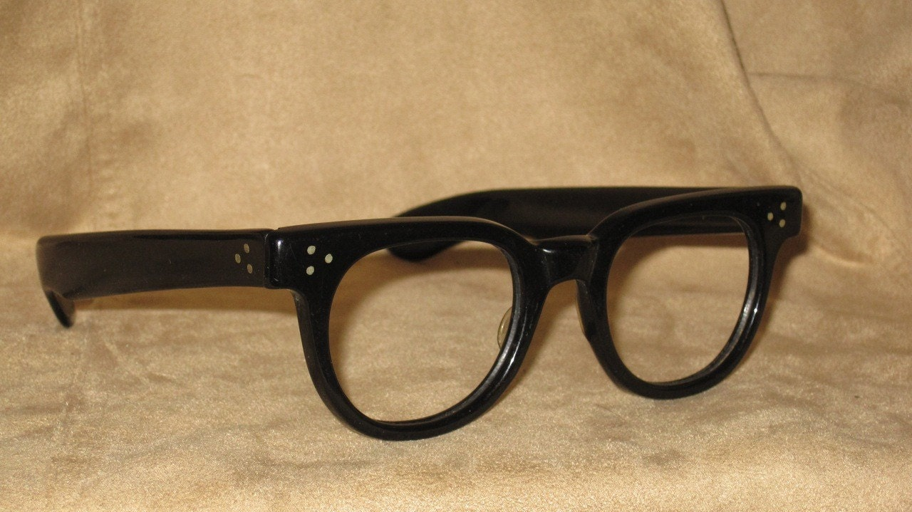 vintage 50s mens eyeglass frames chunky by