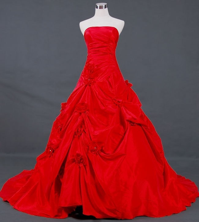 vampire red wedding dress by weddingdressfantasy on etsy
