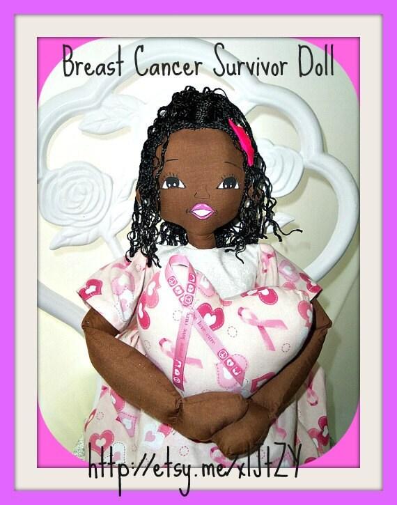 Handmade ooak breast Cancer Survivor Doll