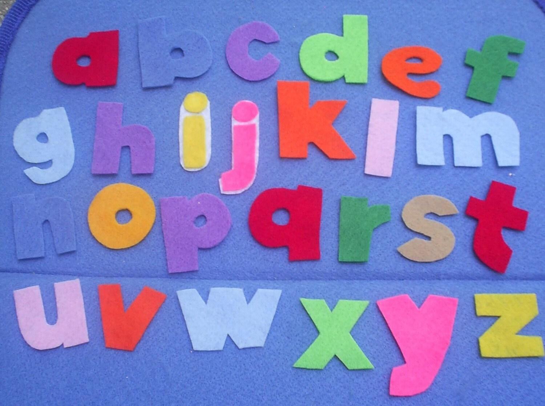 Alphabet lowercase letters flannel board felt by for Flannel board letters