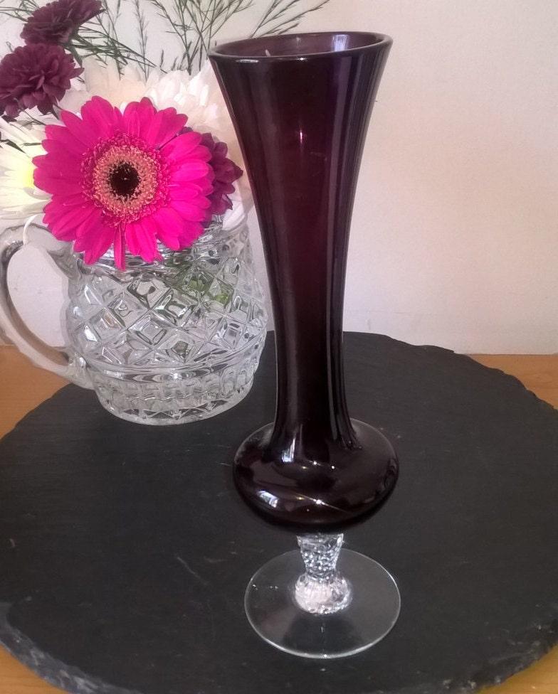 Amethyst Glass Vase Purple Retro Glass Vase