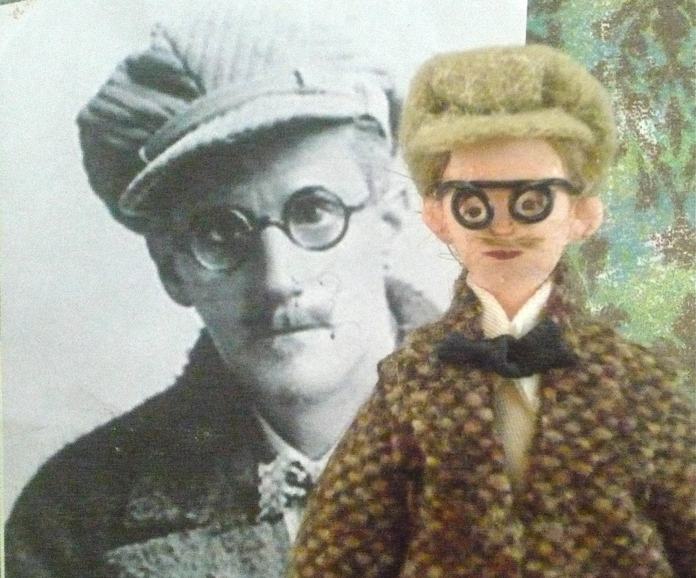 Author Doll James Joyce Miniature Replica Character in Tweed Coat