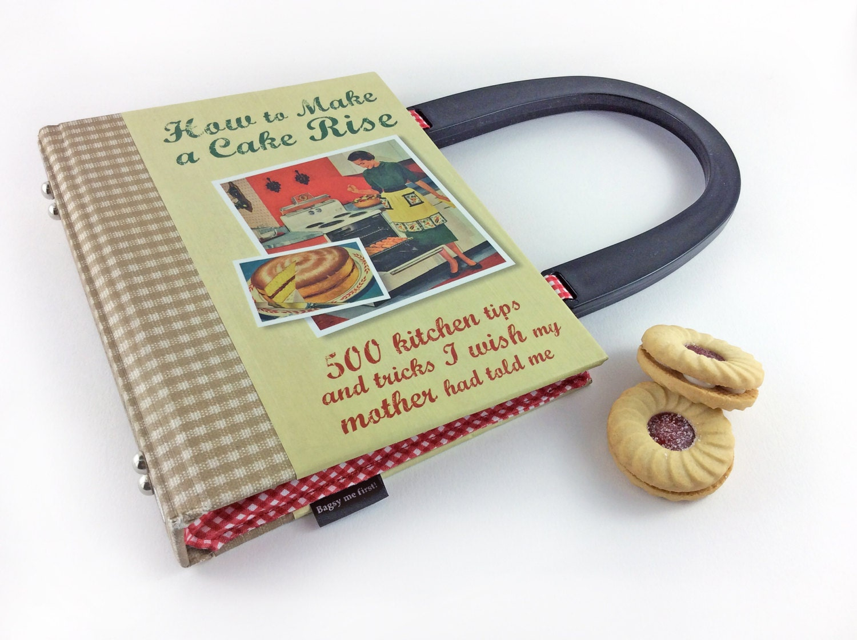 How to Make a Cake Rise Handbag Cookery Handbag 1950s style handbag Cookery Purse Cute and kitsch handbag The Great British Bakeoff