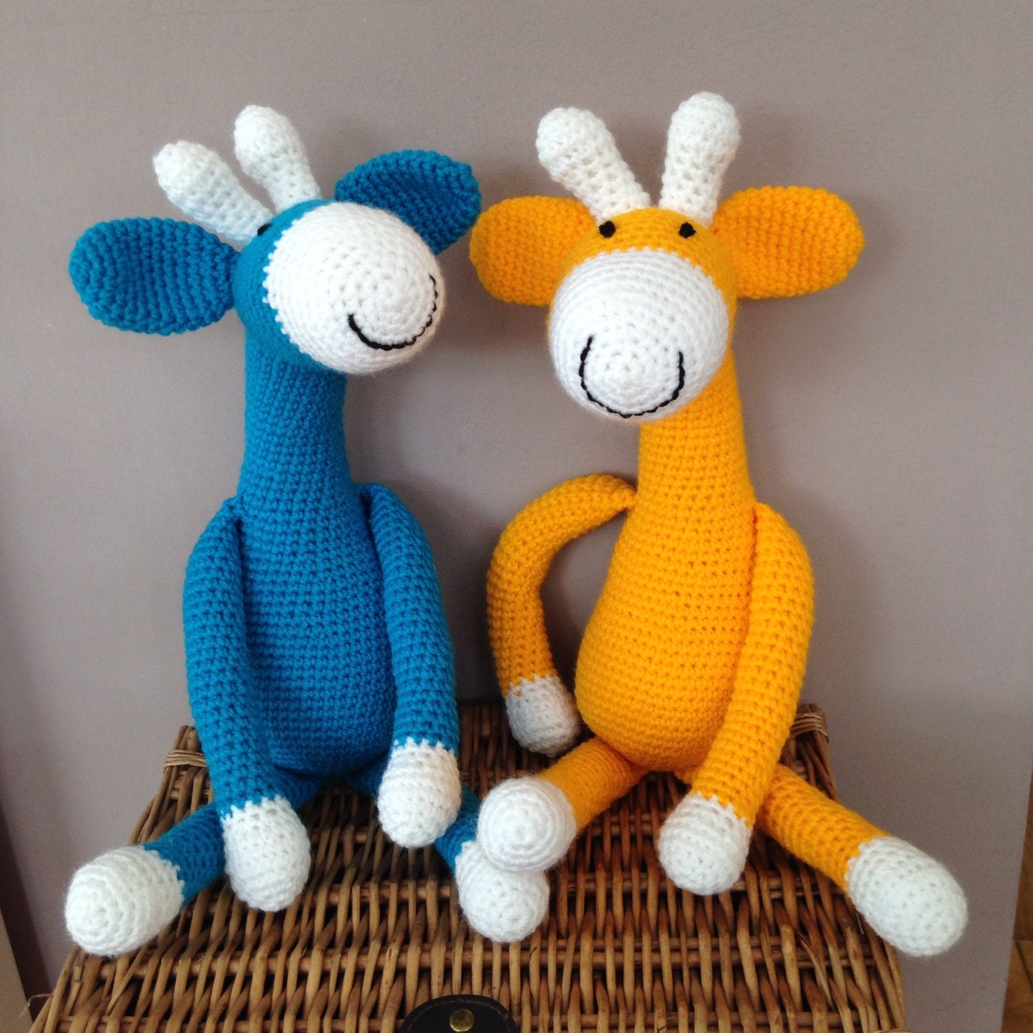 Handmade Giraffe toy crochet toy toddlers toy baby gift