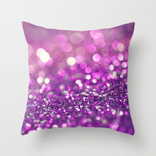 Items similar to Purple Pillow Cover - Purple throw pillow cover white abstract glitz living ...