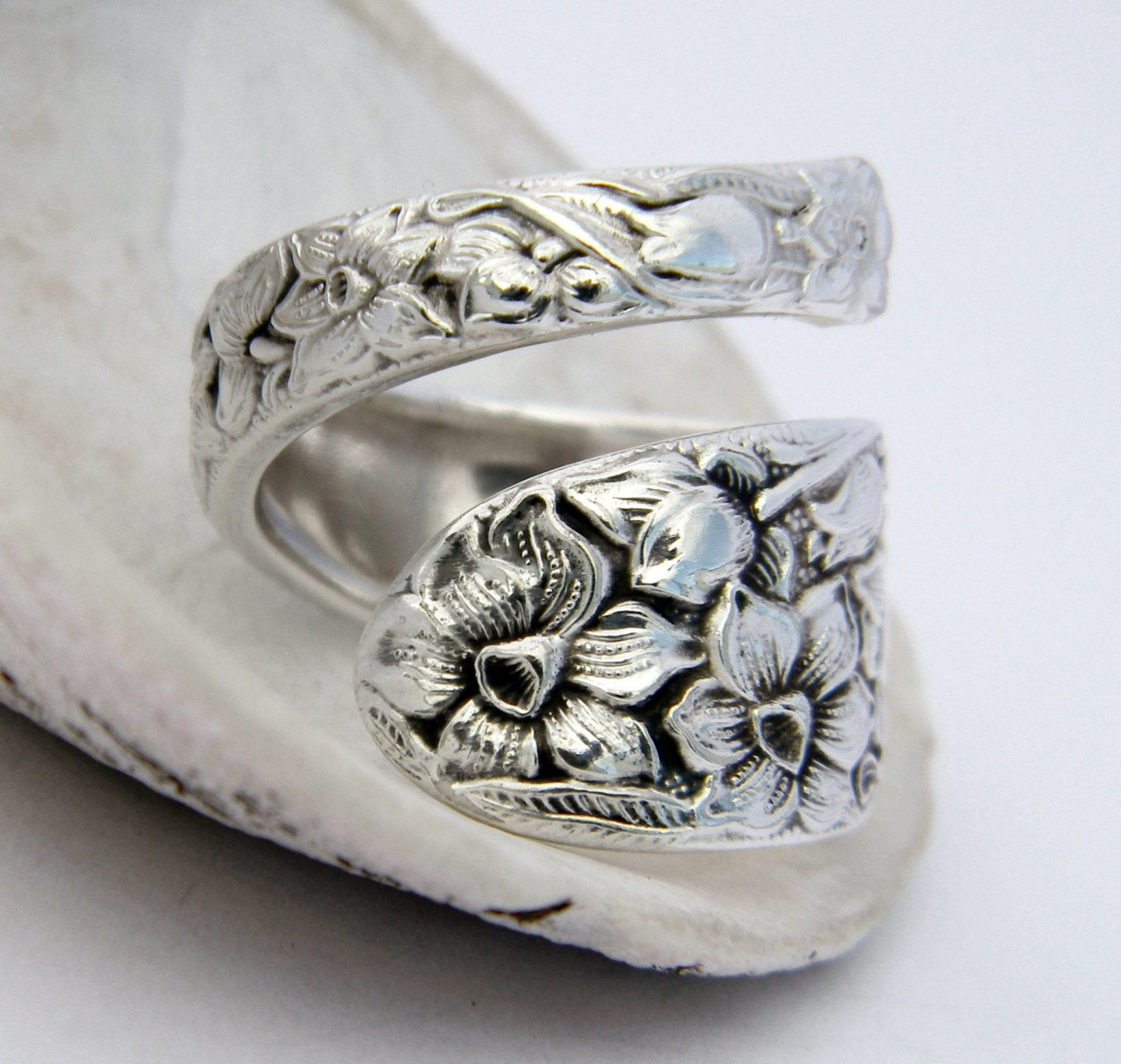 spoon ring antique silverware jewelry by californiaspoonrings
