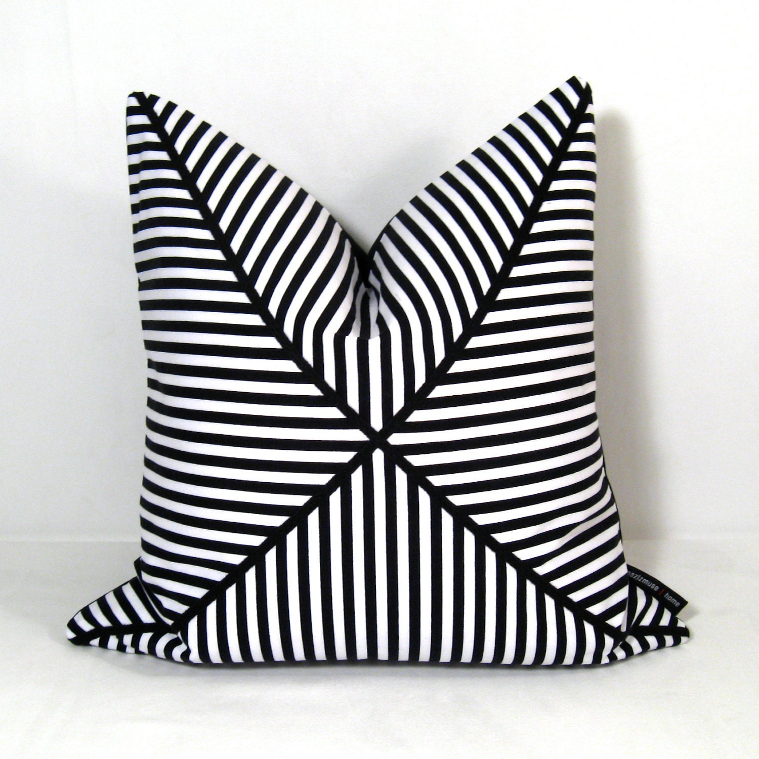 Black And White Striped Throw Pillows : HOLD for KELLY until February 22 Black White Pillow by Mazizmuse