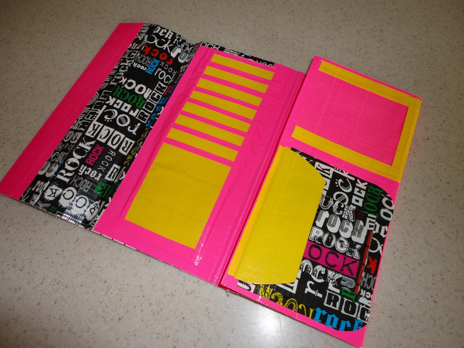items similar to duct tape womens clutch wallet rockn