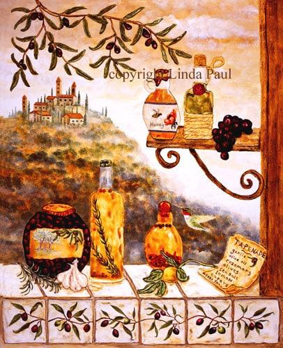 Tuscan Kitchen Art: Tuscan Kitchen Decor Canvas Artwork Tuscany Wall By Lindapaul
