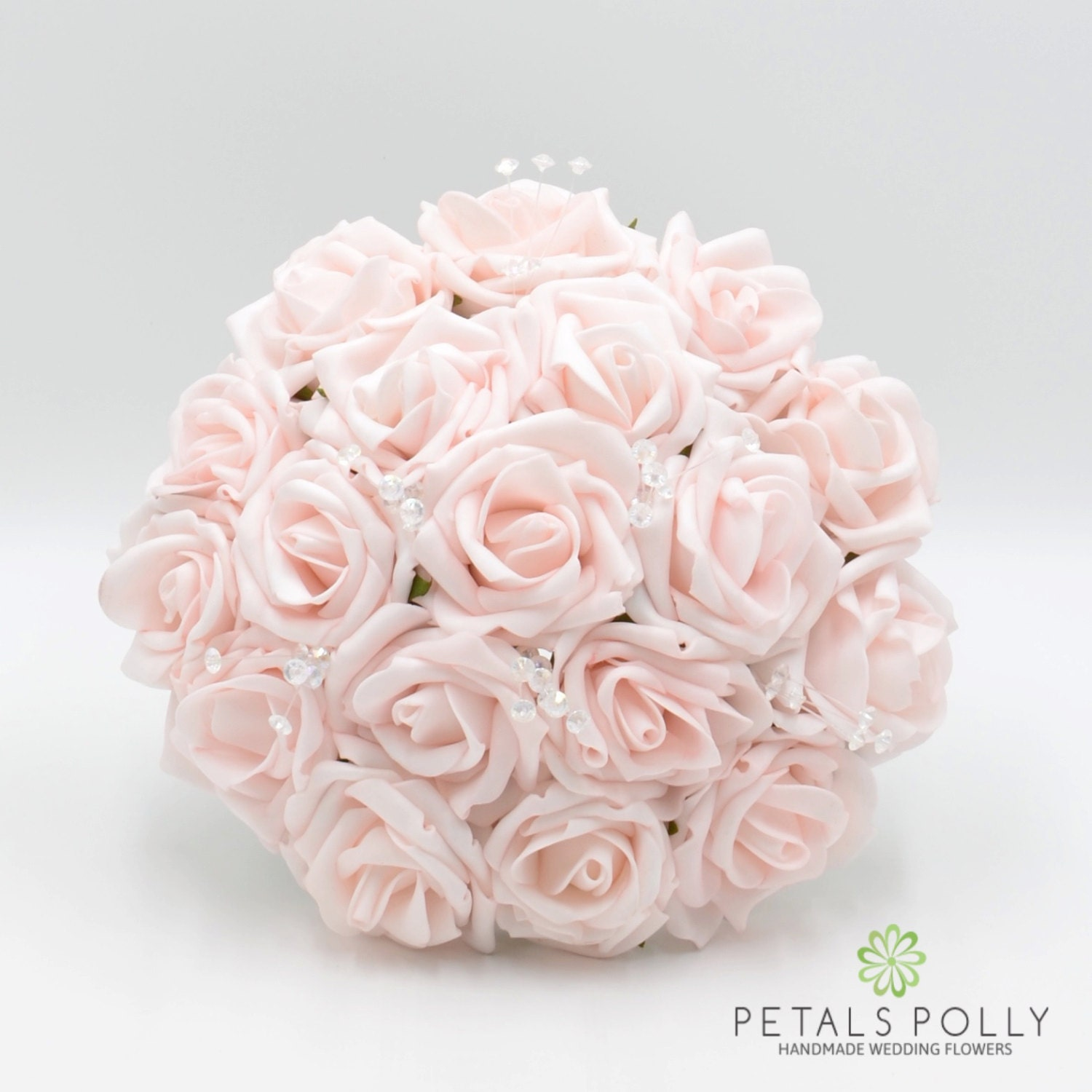 Artificial Wedding Flowers Blush Pink Bridesmaids Bouquet Posy