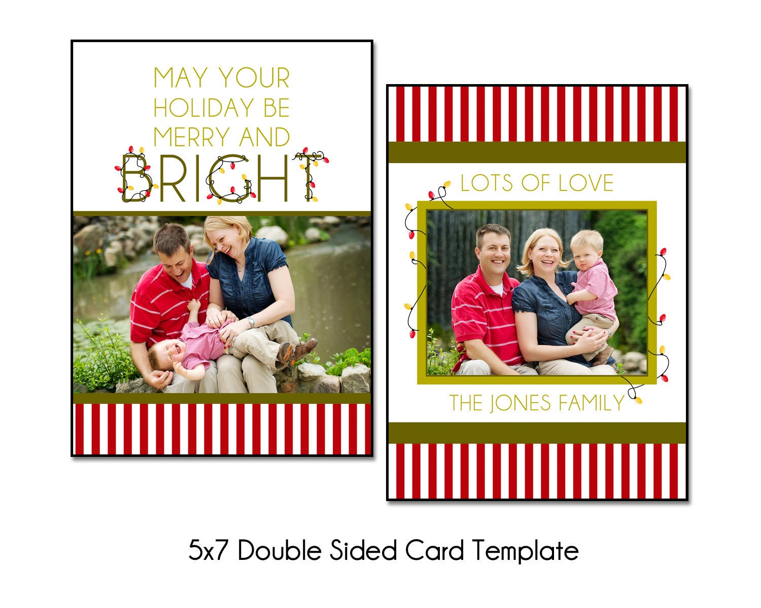 Christmas Card Template For Photoshop Christmas Card Template