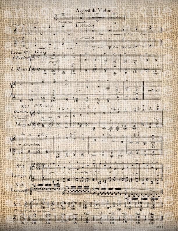 Antique Violin Old Sheet Music Vintage By Antiquegraphique