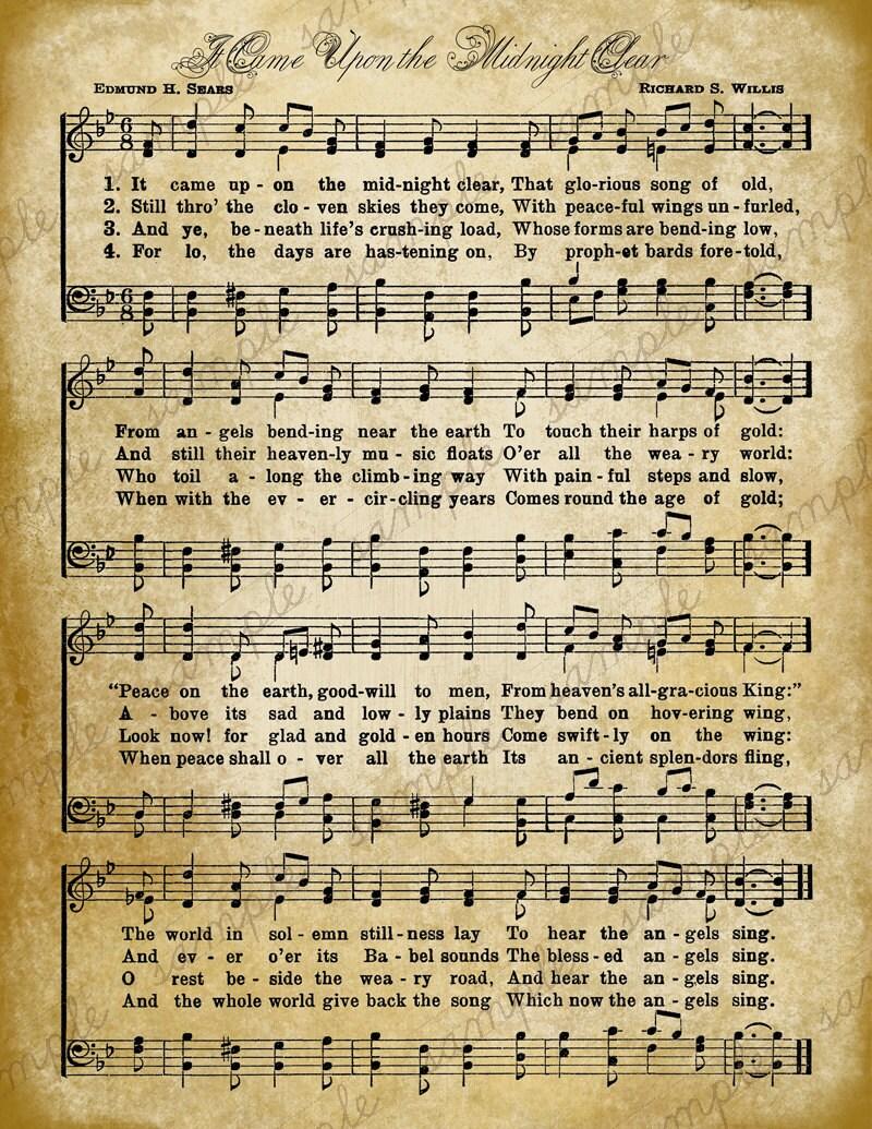 Old Christmas Sheet Music | giftsforsubs