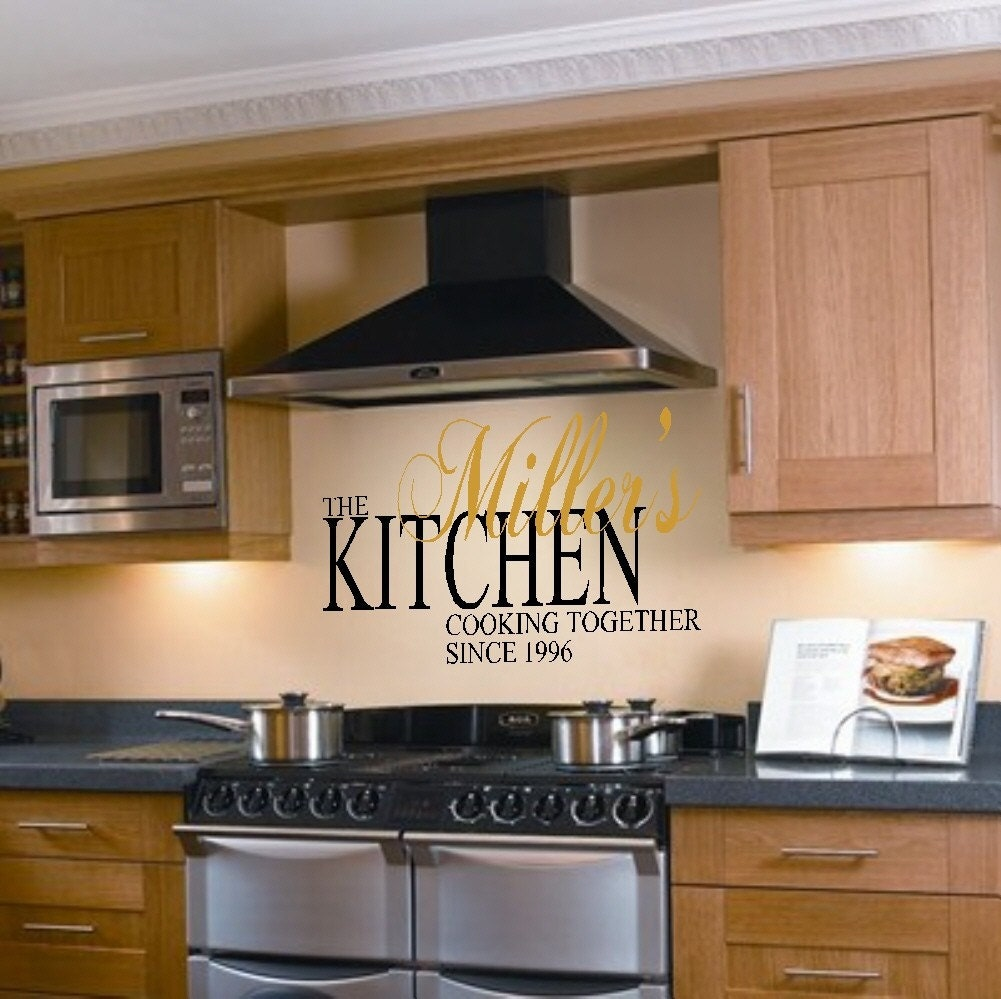 Custom Kitchen Quote Vinyl Wall Lettering Decor By Landbgraphics