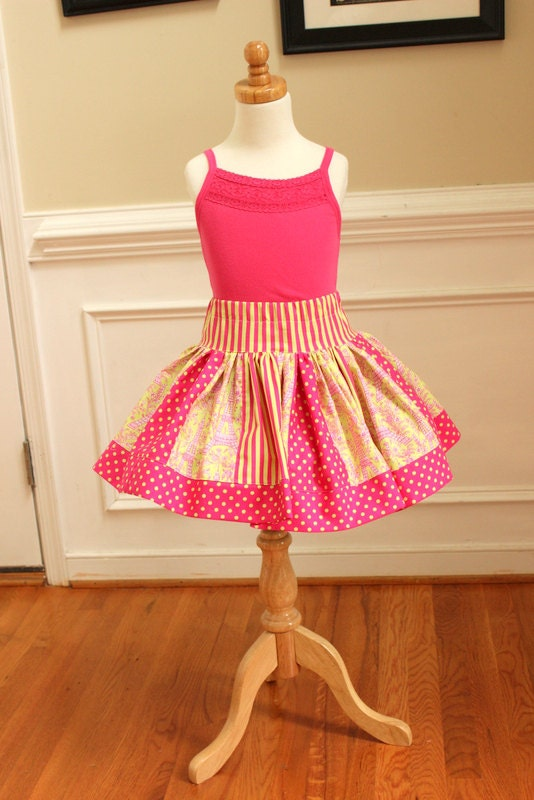 Girls skirt eiffel tower neon clothing by
