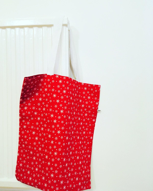 Christmas Tote Bag Unisex Christmas gift present Shopping Bag Reusable Shopper Bag Eco Tope Bag Tote Cotton bags Christmas gift idea