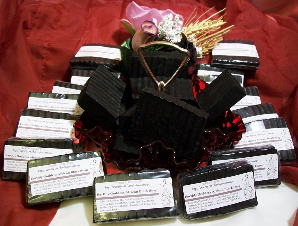 Earthly Goddess African Black Soap with Goats Milk and Honey