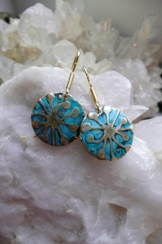 Handmade jewelry artists : Star jewelry embossed handmade art by moonheartstudios